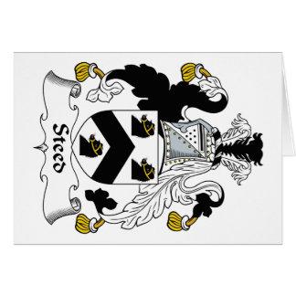 Escudo de la familia del corcel tarjetón