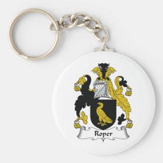 Escudo de la familia del cordelero llavero personalizado
