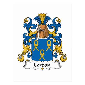Escudo de la familia del cordón tarjetas postales