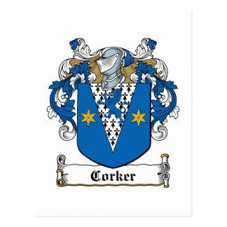 Escudo de la familia del Corker Postales