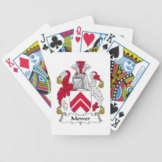 Escudo de la familia del cortacéspedes baraja de cartas