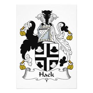 Escudo de la familia del corte anuncio personalizado