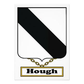 Escudo de la familia del corvejón invitación personalizada