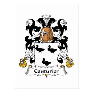 Escudo de la familia del Couturier Tarjeta Postal
