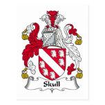 Escudo de la familia del cráneo postal