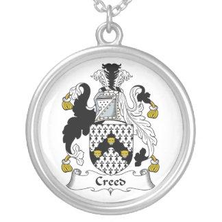 Escudo de la familia del credo collar personalizado