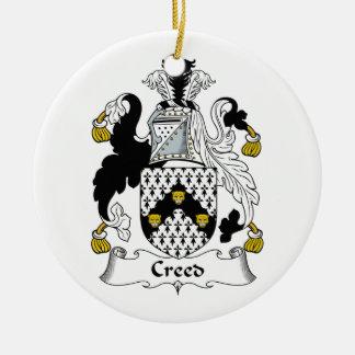 Escudo de la familia del credo ornamento para arbol de navidad