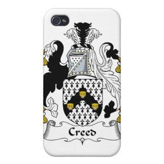 Escudo de la familia del credo iPhone 4 protectores