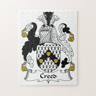 Escudo de la familia del credo puzzles