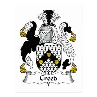 Escudo de la familia del credo tarjeta postal