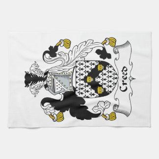 Escudo de la familia del credo toalla