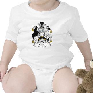 Escudo de la familia del credo trajes de bebé