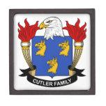 Escudo de la familia del cuchillero cajas de joyas de calidad