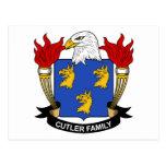 Escudo de la familia del cuchillero postal