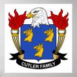 Escudo de la familia del cuchillero poster