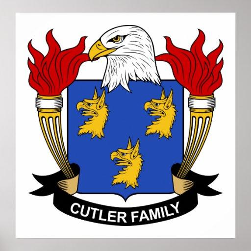 Escudo de la familia del cuchillero póster