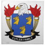 Escudo de la familia del cuchillero servilletas imprimidas