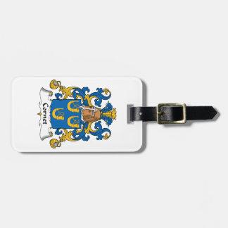 Escudo de la familia del cucurucho etiquetas de equipaje