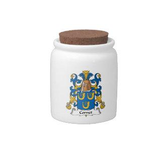 Escudo de la familia del cucurucho tarro de cerámica para dulces