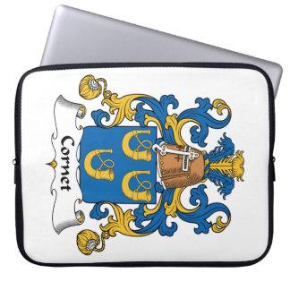 Escudo de la familia del cucurucho fundas ordendadores