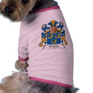 Escudo de la familia del cucurucho camiseta con mangas para perro