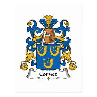 Escudo de la familia del cucurucho tarjeta postal