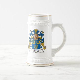 Escudo de la familia del cucurucho jarra de cerveza