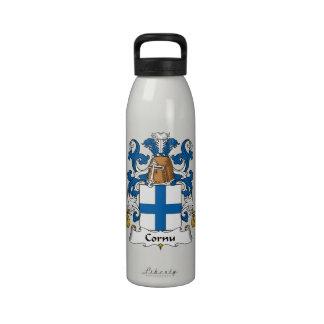 Escudo de la familia del cuerno botellas de beber