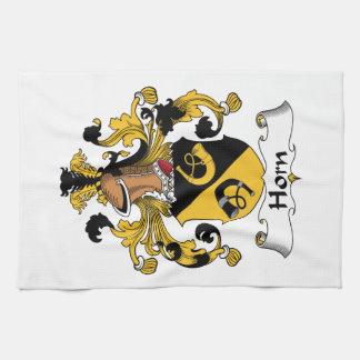 Escudo de la familia del cuerno toalla