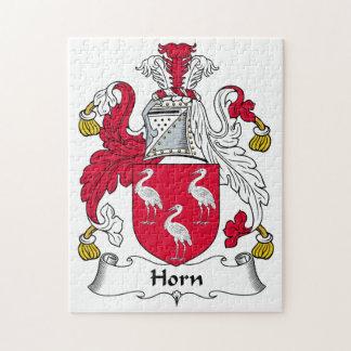 Escudo de la familia del cuerno puzzles