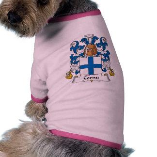 Escudo de la familia del cuerno camisa de mascota