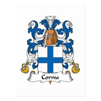 Escudo de la familia del cuerno tarjetas postales
