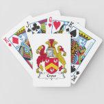Escudo de la familia del cuervo cartas de juego