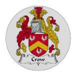 Escudo de la familia del cuervo juego de fichas de póquer