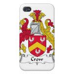 Escudo de la familia del cuervo iPhone 4 coberturas