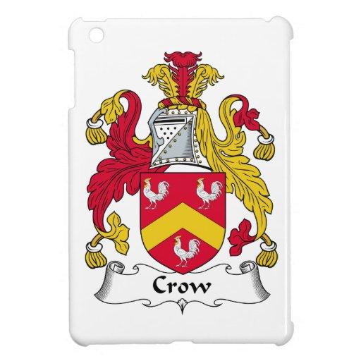Escudo de la familia del cuervo iPad mini fundas