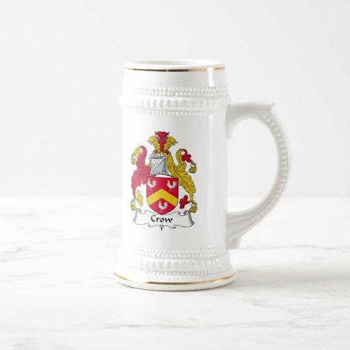 Escudo de la familia del cuervo jarra de cerveza