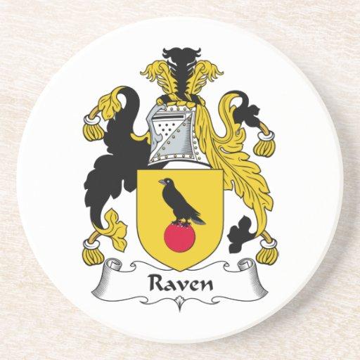 Escudo de la familia del cuervo posavasos manualidades