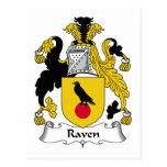 Escudo de la familia del cuervo postales
