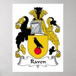 Escudo de la familia del cuervo posters