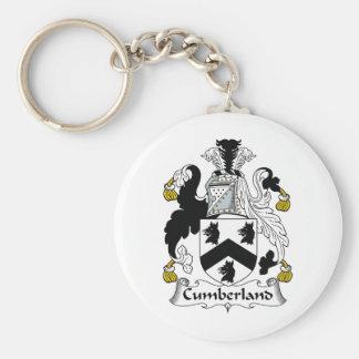 Escudo de la familia del Cumberland Llavero Redondo Tipo Pin