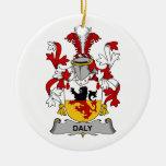 Escudo de la familia del Daly Adorno De Navidad