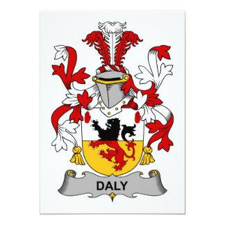 Escudo de la familia del Daly Invitación 12,7 X 17,8 Cm