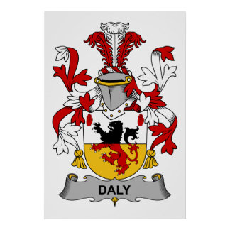 Escudo de la familia del Daly Póster