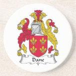 Escudo de la familia del danés posavasos diseño