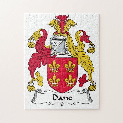 Escudo de la familia del danés rompecabeza con fotos