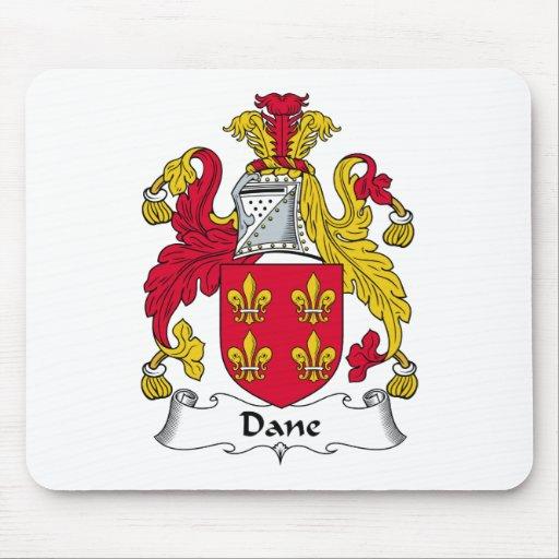 Escudo de la familia del danés alfombrillas de ratón
