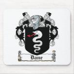 Escudo de la familia del danés tapetes de raton