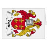 Escudo de la familia del danés tarjeta