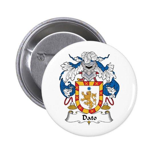 Escudo de la familia del Dato Pin Redondo De 2 Pulgadas